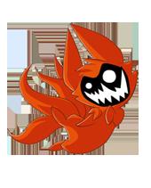 Символ сайта маленький Кьюби, Наруто очень любит эту лису
